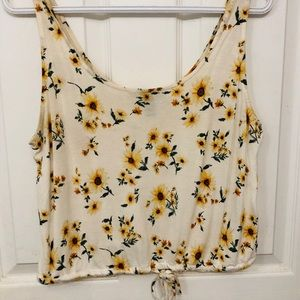 Sunflower top with tie can fit S-L
